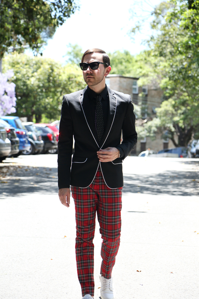 Mens Checked Trousers Outfit