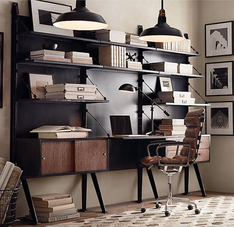 20 Industrial Style Home Office Spaces Dapper Lounge